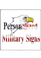 Military Signs Personalized