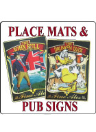 English Place Mats/Signs