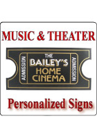 Home Theater Signs