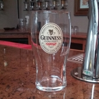 Guinness Label Beer Glass