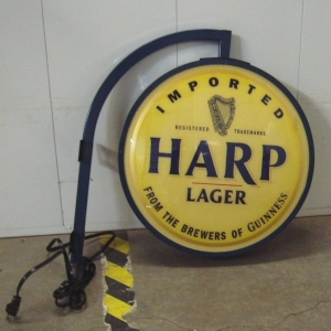 Harp Lager Metal Pub Light