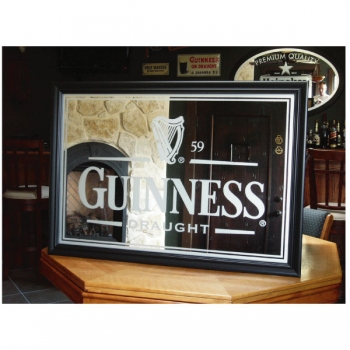 Guinness Frosted Bar Mirror