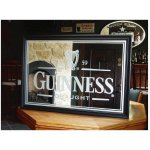 Guinness Etched Bar Mirror