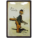 Irish Golfer Metal Sign