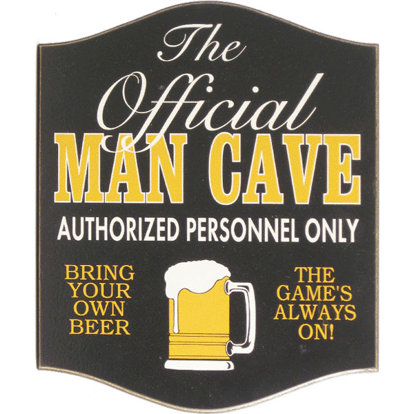Stores That Sell Man Cave Signs : Official man cave sign the pub shoppe