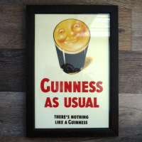 Guinness Framed Smiling Pint Print