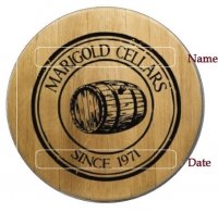 Medallion Barrel Head Sign B329