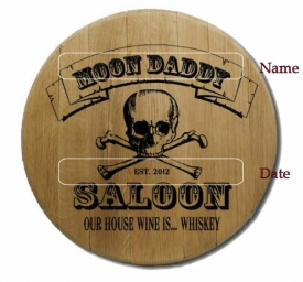 Saloon Barrel Head Sign