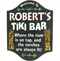 Tiki Bar Personalized Sign #3926