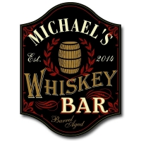 Whiskey Bar Personalized Sign #5006
