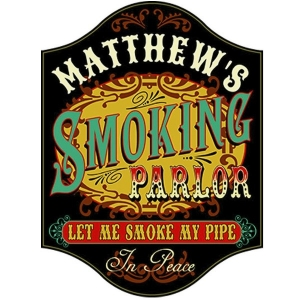 Smoking Parlor Personalized Sign #5410