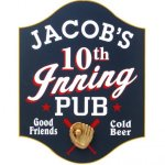 10th Inning Pub Sign #4263