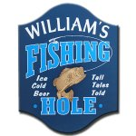 Fishing Hole Personalize Sign #4501