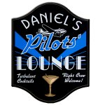 Pilots Lounge Personalized Sign #4512