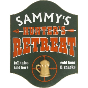 Hunters Retreat Personalize Sign