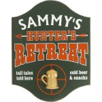 Hunters Retreat Personalize Sign#4502M
