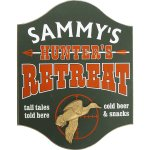 Hunters Retreat Personalized Sign #4502UD