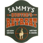 Hunters Retreat Personalized Sign #4502DE