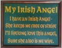 Irish Angel Pub Sign#3796