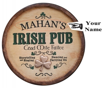 Irish Pub Barrel Head, QBX_8