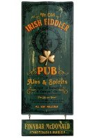 Irish Fiddler Pub Sign