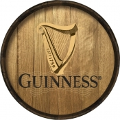Guinness Barrel Head Hoop Sign