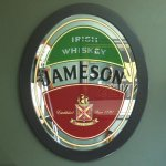Jameson Whiskey Oval Mirror