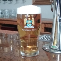 Manchester City Football Club Tulip Glass