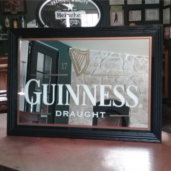 "Guinness 39.5"" x 27.5"" Bar Mirror"
