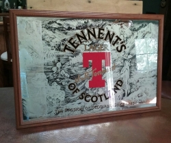 Tennents Lager Bar Mirror