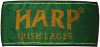 Harp Lager bar towel