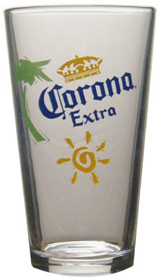 Corona extra pint glass the pub shoppe for How to make corona glasses