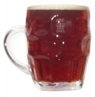 British Dimple Mug Pint Glass