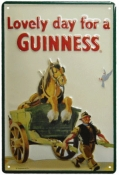 Guinness Horse in Cart #G15