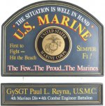 U.S. Marine Personalized Sign