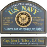 U.S. Navy Personalized Sign