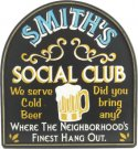 Social Club Pub Sign #3644