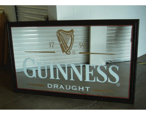 Guinness Back Bar Mirror