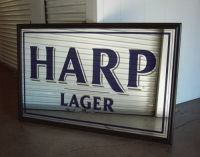 Harp Back Bar Mirror