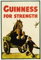 Guinness Horse in Cart Poster