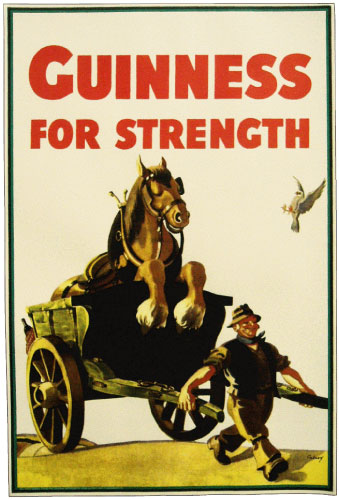 Guinness Horse in Cart Poster | The Pub Shoppe