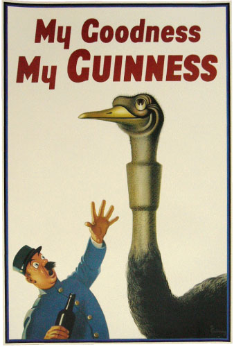 Guinness Ostrich Poster | The Pub Shoppe