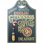 Guinness Bottled Draught Pub Sign