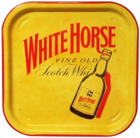 White Horse Metal Waiter Tray
