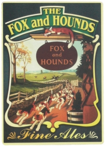 Fox and Hounds Pub Sign