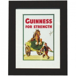 Guinness Horse in Cart Print