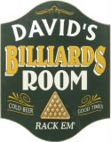 Billiards Room Pub Sign #4262