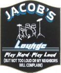 Drum Lounge Personalized Sign #3873