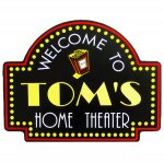 Home Theater Welcome Sign #3962