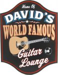 World Famous Guitar Lounge Sign #3989